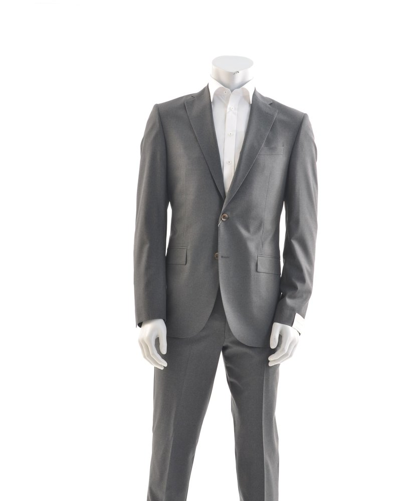 JACK VICTOR Slim Fit Charcoal Plain Suit