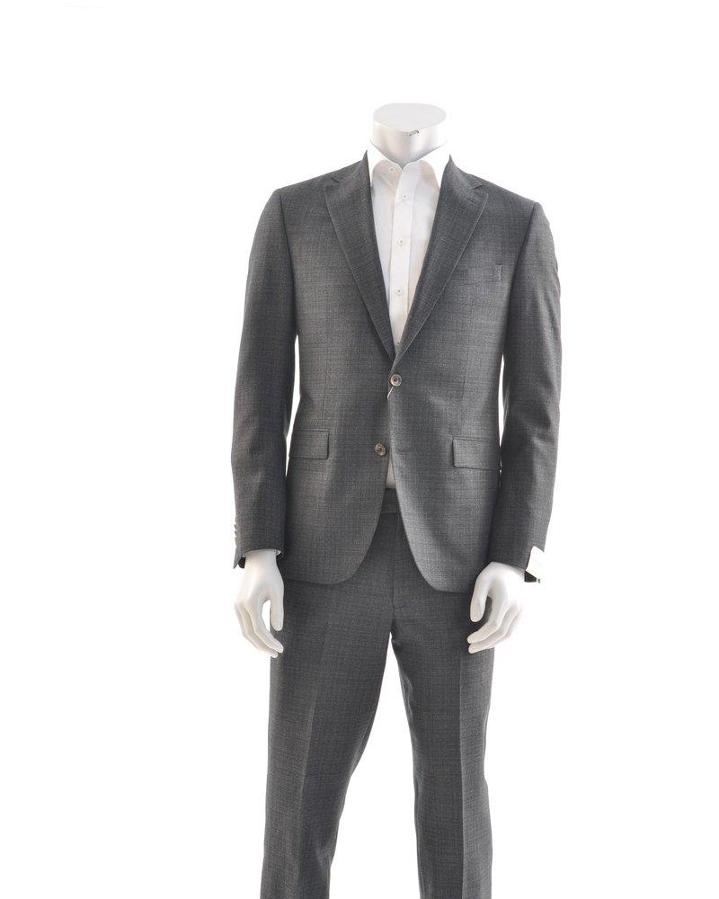 JACK VICTOR Modern Fit  Charcoal Basket Weave Suit