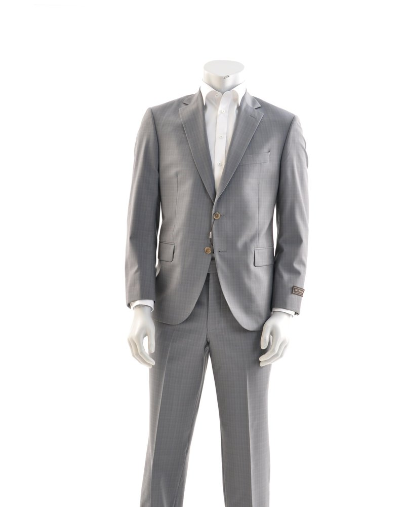 JACK VICTOR Classic Fit Mid Taupe Neat Suit