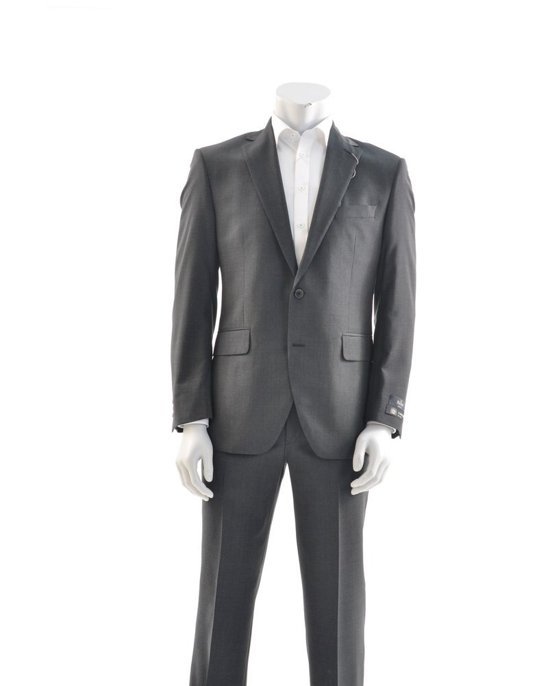 COPPLEY Modern Fit Charcoal Basket Weave Suit
