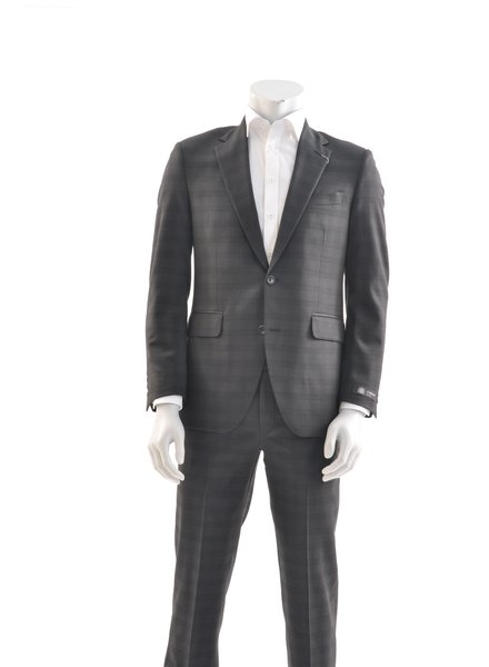 COPPLEY Slim Fit Black Tonal Glen Check Suit