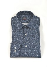 PAUL & SHARK Classic Fit Navy Small Multi Blocks Shirt