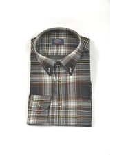 PAUL & SHARK Classic Fit Black & Brown Plaid