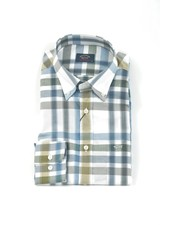 PAUL & SHARK Classic Fit Taupe Blue Bold Check Shirt