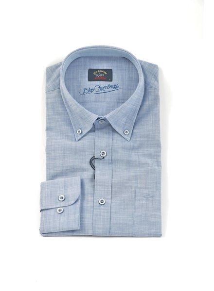PAUL & SHARK Classic Fit Blue Chambray Shirt