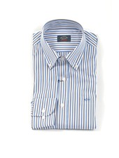 PAUL & SHARK Classic Fit Blue & Tan Stripe Shirt