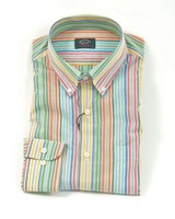 PAUL & SHARK Classic Fit Multi Colour Pastel Stripe Shirt