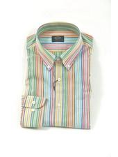 PAUL & SHARK Classic Fit Multi Colour Pastel Stripe Shirt