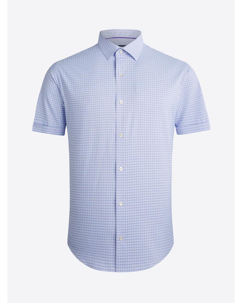 BUGATCHI UOMO Classic Fit Cotton Touch Lavender Block LS Shirt