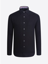 BUGATCHI UOMO Modern Fit Black Tonal Circle Shirt