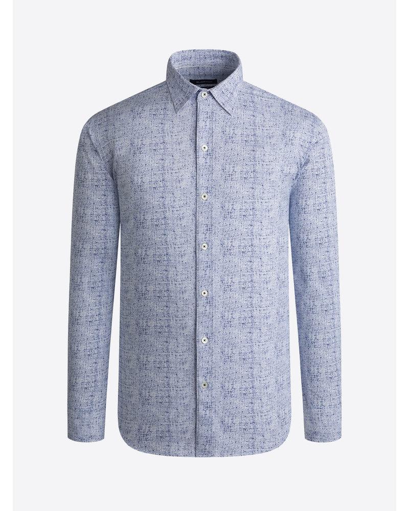 BUGATCHI UOMO Modern Fit Blue White Print