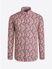 BUGATCHI UOMO Modern Fit Colorful Floral LS Shirt