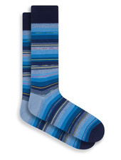 BUGATCHI UOMO Multi Coloured Stripe Sock
