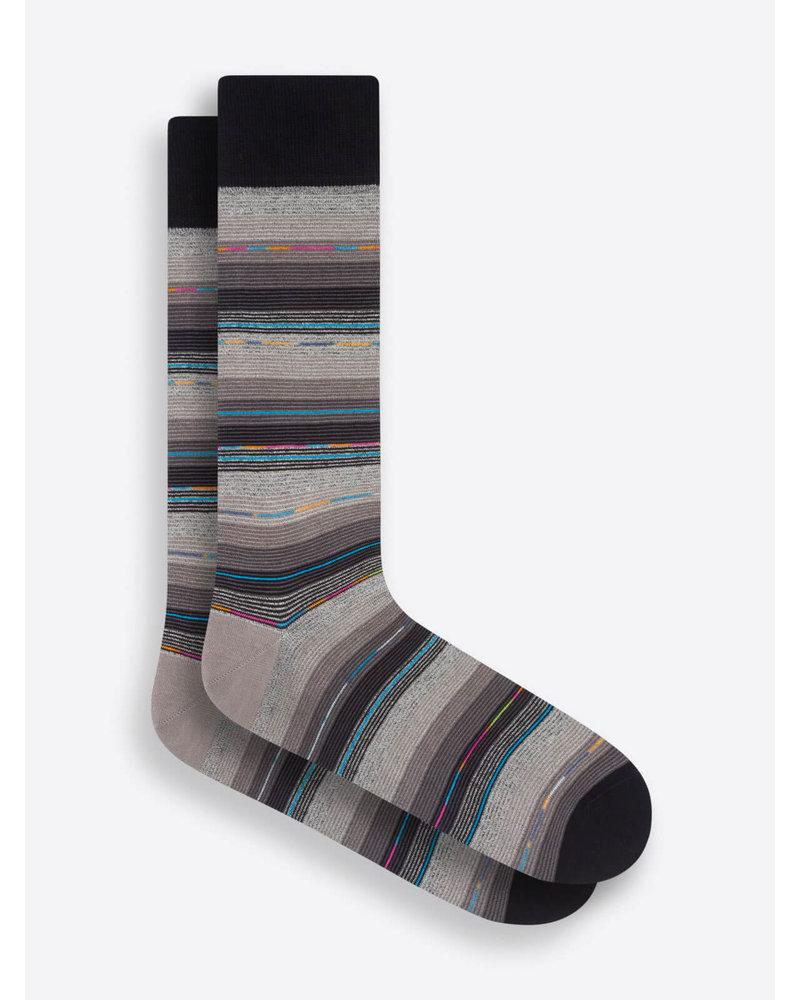 BUGATCHI UOMO Multi Coloured Stripe Sock