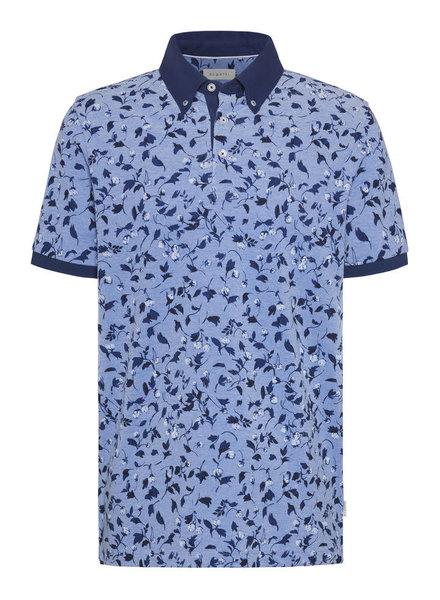 BUGATTI Blue Floral Polo