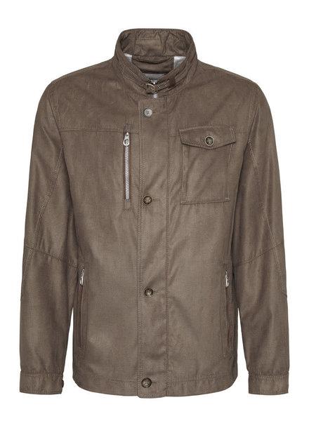 BUGATTI Tan Micro Suede Casual Jacket