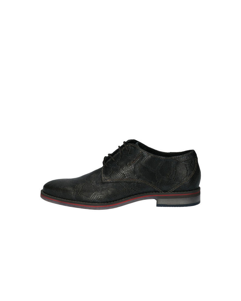 BUGATTI Black Alligator Shoe