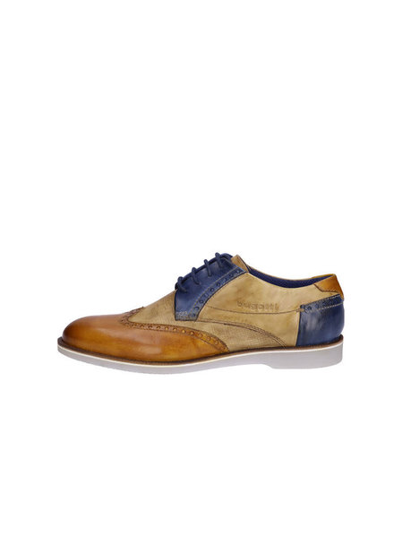 BUGATTI Tan and Cognac Brogue Shoe