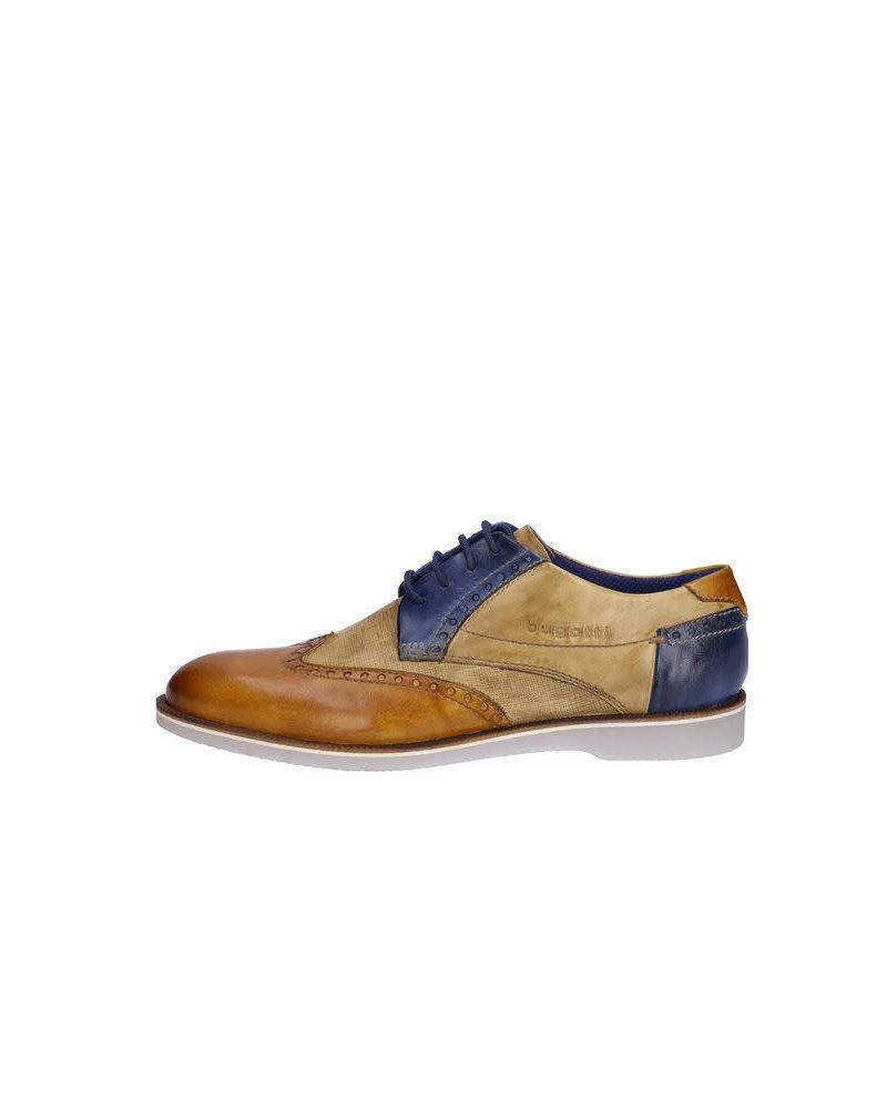 BUGATTI Tan and Cognac Brogue Shoe