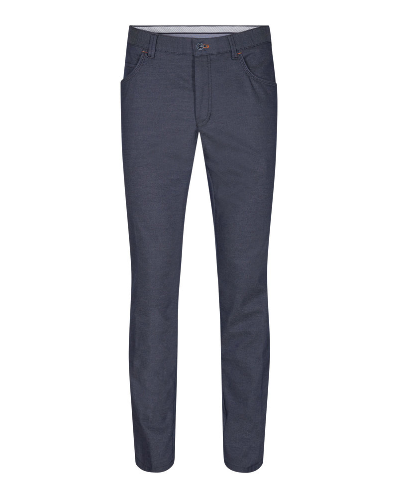 SUNWILL Denim Blue Twill Casual Pant