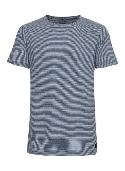 BLEND Blue White Stripe T Shirt
