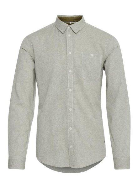 BLEND Slim Fit Plain Martini Olive Shirt