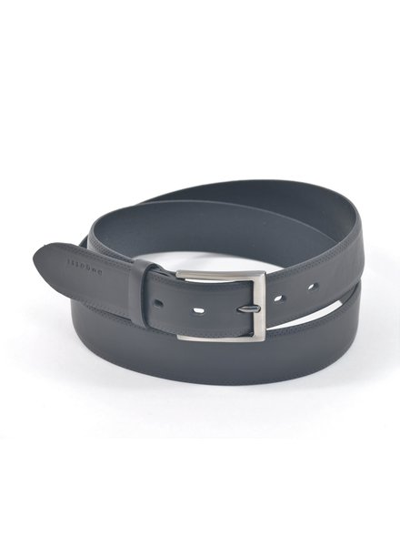 BUGATTI Black Leather Belt