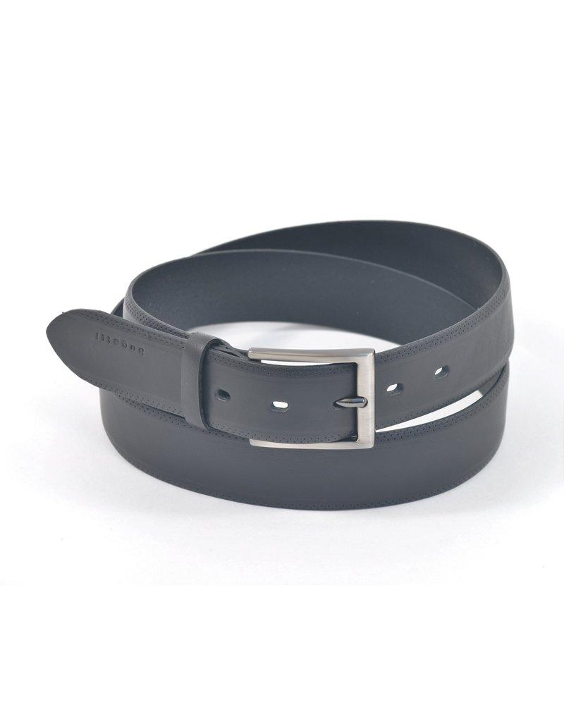 BUGATTI Black Leather Belt
