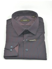 VERSA Modern Fit Burg & Navy Stripe Shirt