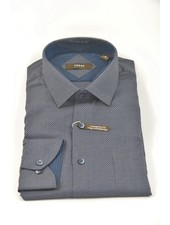 VERSA Modern Fit Navy & Taupe Circles Shirt