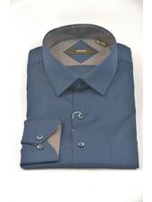 VERSA Modern Fit Navy Stripe Shirt