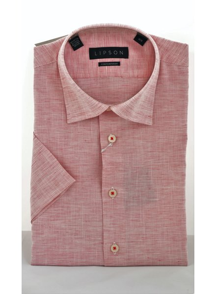 LIPSON Modern Fit Cotton Linen Blend Shirt