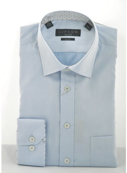 LIPSON Classic Fit Blue Shirt