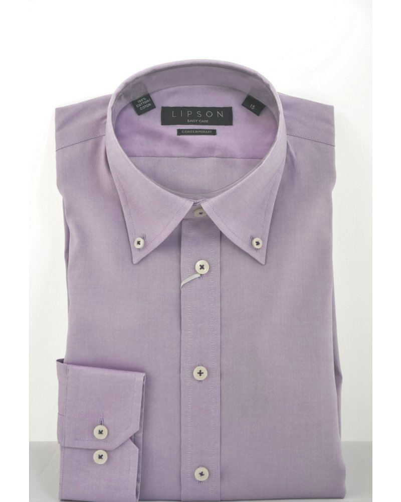 LIPSON Modern Fit Button Down Oxford Shirt