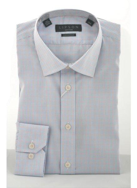 LIPSON Modern Fit Pink & Blue Mini Block Shirt