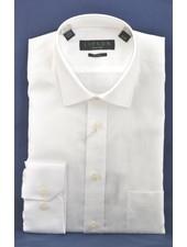 LIPSON Classic Fit White with Tonal Diamond Shirt