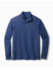 TOMMY BAHAMA Palm Valley Half Zip Navy Heathered