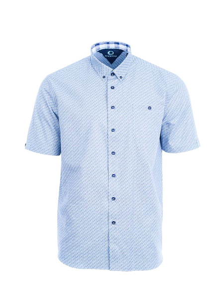 MARCO Classic Fit Blue Green Spirals Shirt