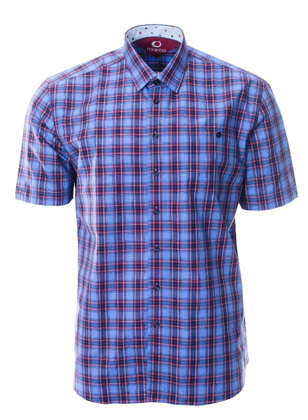 MARCO Classic Fit Blue Plaid Shirt