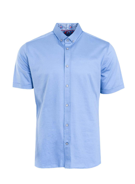 MARCO Modern Fit Mid Blue Neat Shirt