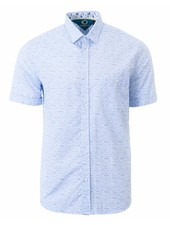 MARCO Classic Fit Blue Mini Block Shirt
