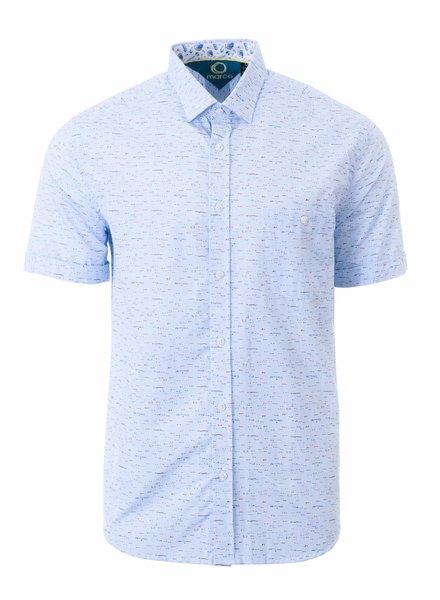 MARCO Classic Fit Blue Mini Block Shirt