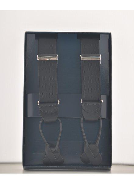 BENCHCRAFT Black Leather Strap Suspender