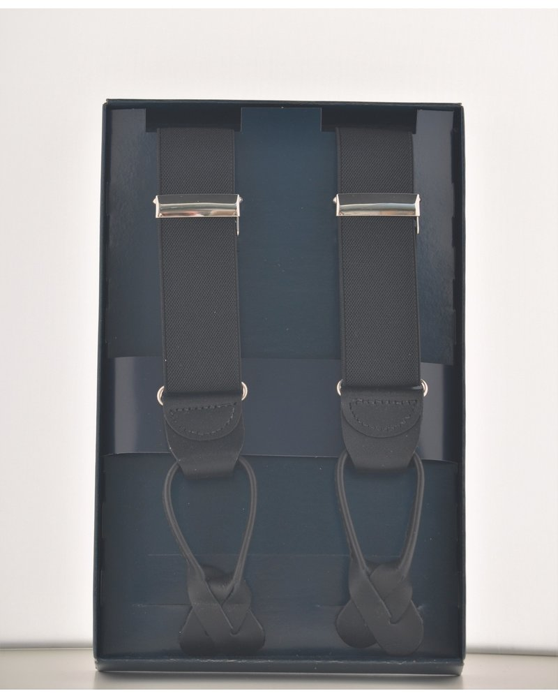 BENCHCRAFT Black Leather Strap Suspender
