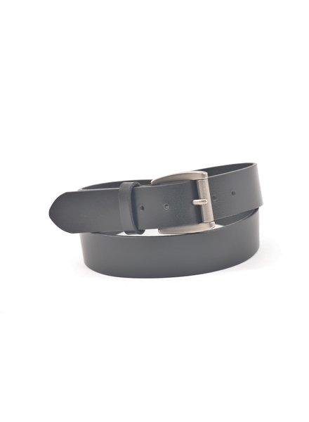 BENCHCRAFT Black Oiled Harness Roller Buckle Belt