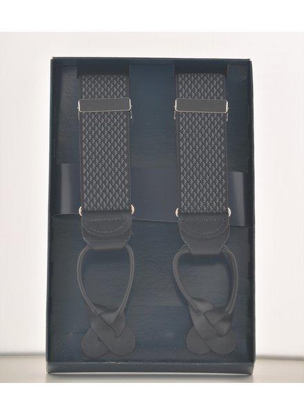 BENCHCRAFT Black Grey Leather Strap Suspender