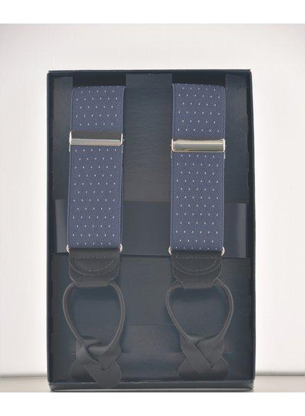 BENCHCRAFT Blue Dot Leather Strap Suspender