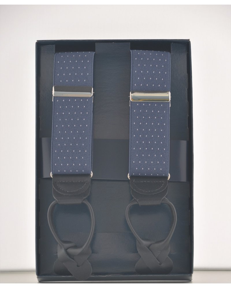 BENCHCRAFT Blue Dot Leather Strap Suspender