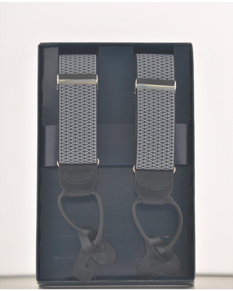 BENCHCRAFT Grey Leather Strap Suspender