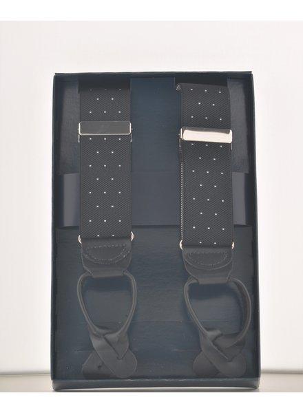 BENCHCRAFT Black Dot Leather Strap Suspender